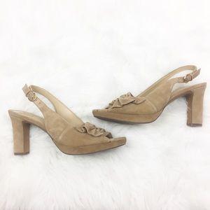 Naturalizer | Tan Strap Heels